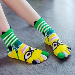носки для животных Скидка 3 пары пара пять пальцев носок мультфильм прекрасный хлопок дышащий удобные 5 носки для женщин случайные милые носки