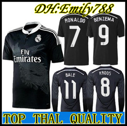 ba396b8266d Retro Real Madrid 14 15 Home Soccer Football Jersey BALE RONALDO KROOS  BENZEMA 2014 15 SERGIO RAMOS ASENSIO Long sleeve jersey on sale