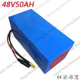 EU US Pas de taxe 48V Scooter Batterie 48V 50AH Vélo Électrique Batterie 48V 50AH 2000W Batterie Au Lithium avec 50A BMS et 54.6V Chargeur ? partir de fabricateur