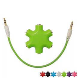 2019 alta qualidade rca cabos Alta Qualidade 1 a 5 3.5 Mm Cabo De Áudio Fone de Ouvido Splitter Adaptador, 6 Way Fone De Ouvido Multi Splitter adaptador de áudio fone de ouvido 3.5 HUB alta qualidade rca cabos barato
