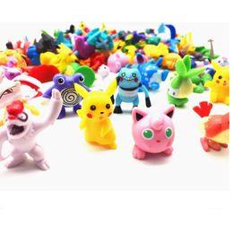 Куклы из японской фигурки онлайн-Карманный монстр цифры Пикачу аниме игрушки 144 шт. стиль японская фигурка фигурки меблировки статьи кукла много для детей партия питания