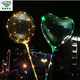 aurora master lights Promotion Ballon lumineux à LED Ballon lumineux clignotant coloré transparent Ballons avec 70cm Pole Décorations de noce Fournitures de vacances
