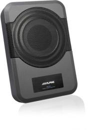 Caixa 12v on-line-Alto-falante auto-sensing de subwoofer de caixa de subwoofer Alpine quente PWE S8 entradas 240W amplificador