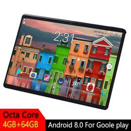 android tablette wifi telefon Rabatt 10 Zoll Tablette Android 2.5D ausgeglichenes Glasschirm Octa Kern Telefon SIM Karte WIFI GPS RAM 4GB ROM 64GB scherzt Tablette PC Android 8.0