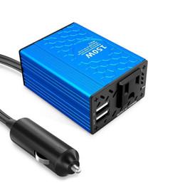 Canada VOLTCUBE 150W Convertisseur de courant de voiture 12V CC en 110V AC Convertisseur avec adaptateur de voiture 3.1A Dual USB Offre