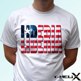 Deutschland Liberia-Flagge - weiße T-Shirt-Spitze Afrika-Entwurf - die Kinder-Babygrößen der Männer Witzig freies Verschiffen Unisex-zufällige T-Shirt-Spitze supplier africa flag Versorgung