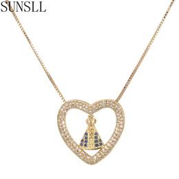 f392704e4685 Venta al por mayor nueva llegada oro cobre blanco AAA cubic zirconia en  forma de corazón delicado colgante collar de la joyería para las mujeres  regalo ...