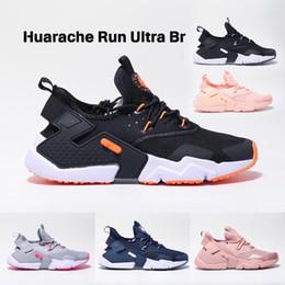 promo code 31548 cf6fb blaue schwarze huarache Rabatt Huarache Run Ultra Br Laufschuhe Mesh Sportschuh  schwarz weiß rosa blau Herren