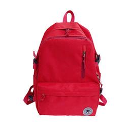 Ragazze di nylon nero online-nuovo marchio desihner zaino nero e rosso alta qualità oxfprd scuola borsa per ragazzi e ragazze Designer borse a tracolla