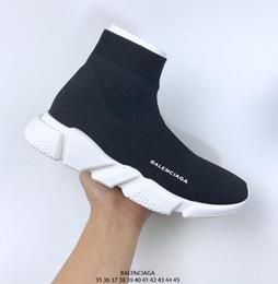 NewAAABalenciaga 2019 Scarpe da corsa calzino scarpe casuali donne degli uomini Nero Bianco Rosso Luxury Shoes velocità calzino della scarpa da tennis di sport formato 36-46 da scarpe da lavoro casual uomini fornitori