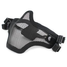 2019 meia máscara New Outdoor Tactical Fantasma Malha Airsoft Máscara Emerson Paintball Meio Rosto Proteção Estilo de Caça Acessórios desconto meia máscara