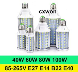 Lampe lumineuse à DEL super puissante E40 E14 E27 B22 SMD5730 à angle de 85 ° C, angle de 85-265V, puissance élevée 40W 60W 80W 100W ? partir de fabricateur