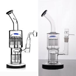 Pipes à bulles en Ligne-toro glass bongs recycleur barboteur avec plate-forme de la limande de la conduite d'eau de perc de l'arbre à double bras diffuse avec 18 mm joint