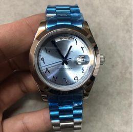 ONEVAN Luxury 228238 cadran bleu argenté boîtier argenté marque mouvement automatique 316L bracelet en acier montre en miroir saphir une qualité ? partir de fabricateur