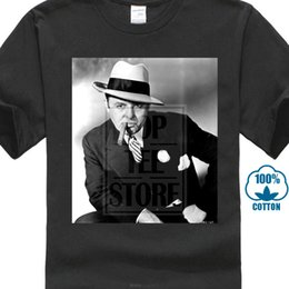 sigari americani Sconti Cool T Shirts Designs Office O Neck Al Capone Suit Cigar American Gangster Retro Tshirt T-Shirt manica corta