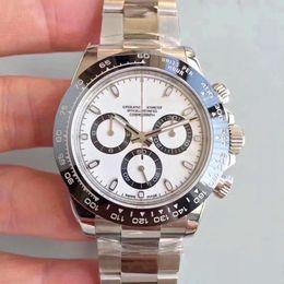 serie di orologi 40mmTONA panda uomini caldi di vendita M116519 semplice acciaio inossidabile 316L 2813 automatico della qualità mens macchina orologi shiping libero da oulm orologio bianco fornitori
