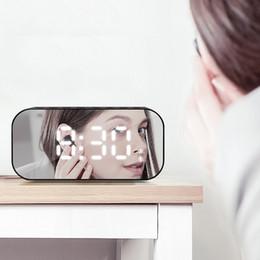2019 bluetooth di alta qualità di alta qualità Nuova sveglia intelligente bluetooth senza fili altoparlante mini subwoofer pesante specchio piccolo suono stilista di lusso di alta qualità sconti bluetooth di alta qualità di alta qualità