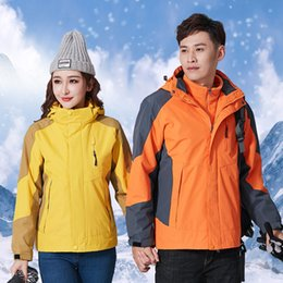 Twinset de roupas femininas on-line-Charge Clothes Outdoors Waterproof Twinset Men And Women Will Code Mountaineering Serve Lovers Fund Keep Warm Skiing Serve