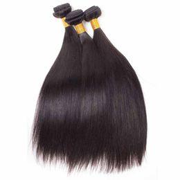 Unprocessed Brazilian Human Hair 8A Peruvian Indian Malaysian Virgin Human Hair Straight Hair Extensions 3pcs lot For Black Women DHL von Fabrikanten