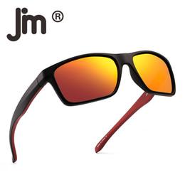Envolver alrededor de marcos online-Lentes polarizadas Gafas de sol deportivas Espejo envuelto alrededor del marco Conducción Pesca Gafas Hombres Mujeres Gafas de sol