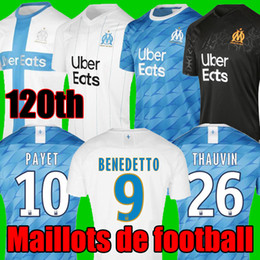 Olympique marselha futebol camisa on-line-19 20 Olympique De Marseille camisa de futebol 2019 2020 Marselha maillot de foot BENEDETTO Camisetas THAUVIN PAYET Maillots de camisa de futebol