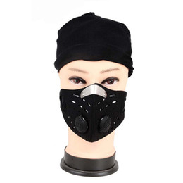 filtros de ar para bicicleta Desconto Homens Mulheres Anti-poeira Ao Ar Livre Ciclismo Máscara Facial Respirável Anti-poluição Filtro de Ar Da Bicicleta Da Bicicleta de Equitação Caminhadas Máscaras A