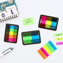 Rainbow memo pads en Ligne-1X Simple Fluoresce Couleur Arc-En-Mémo Bloc-Notes École Fourniture De Bureau Notes Autocollantes Message Quitter Étudiant Papeterie