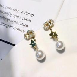 modelli di stelle d'argento Sconti Orecchini da sposa di design europeo S925 orecchini pendenti in argento sterling a forma di stella C e D Orecchini da donna di lusso modellistica regalo