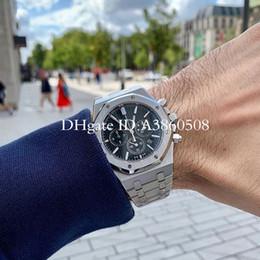 Hombres de calidad de oro online-Nuevo reloj de hombre de lujo superior Oro rosa Stanless Steel 42mm Alta calidad VK Cronógrafo Movimiento de cuarzo Deportes Hombres Relojes