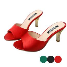 diapositivas tacón alto sexy Rebajas Zapatillas de mujer de verano para mujer Clásico Fino tacones altos Zapatillas Sandalias de moda Ladies Sexy Slides Peep Toe zapatos de fiesta