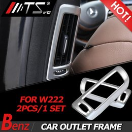 AUTO Pro for Mercedes Benz S Class W222 2014-2018?ABS Chrome B Pillar Air Conditining Outlet Frame Trim Car Accessories