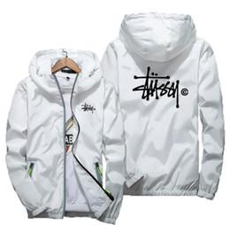 Hoodies spandex on-line-Marca de moda Mens Jaquetas Casaco Outono Jaqueta Com Capuz Designer Com Letras Windbreaker Zipper Hoodies Para Homens Roupas Sportwear