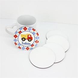 Personalizar tazas de café online-Sublimación Coaster mdf modificado para re Coaster Taza Mat termo soporte amortiguador de transferencia de calor de impresión Posavasos A02