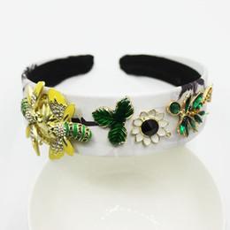 accesorios de coco Rebajas 2019 estilo barroco de cristal de coco abeja diadema de flores accesorios nupciales joyería del pelo para las mujeres tiaras y coronas de boda