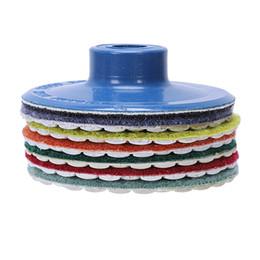 ELEG-6 pezzi + 3 pollici Qulity disco diamantato rotondo flessibile di lucidatura del rilievo di lucidatura del diamante per macinazione di vetro di marmo della pietra supplier round glass marbles da marmi di vetro rotondi fornitori