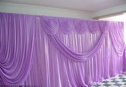 weiße schmetterlingsvorhänge Rabatt Romantische Hochzeit Backdrop10ft * 20ft Eis Silk weiße Farbe mit Schmetterling Swag Hochzeit Drape Curtain Kulisse