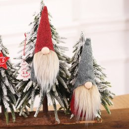 New Christmas Handmade Swedish Gnome Scandinavian Tomte Santa Nisse Nordic Plush Elf Toy Table Ornament Xmas Tree Decorations Hh9 2601