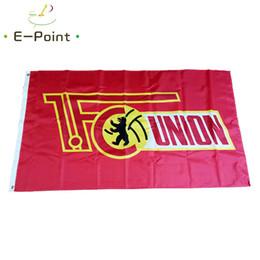 2020 fondo de la bandera Alemania 1.FC Unión Berlín rojo fondo de la bandera * 3 de 5 pies (90 cm * 150 cm) de poliéster bandera bandera bandera decoración del hogar volar jardín festiva fondo de la bandera baratos