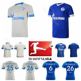 d107e98b7 Schalke 04 Soccer 18 CALIGIURI Jersey Men 18 19 Season Bundesliga 26 SANE  13 RUDY 36 EMBOLO 5 CENTR Football Shirt Kits Uniform schalke soccer jersey  outlet