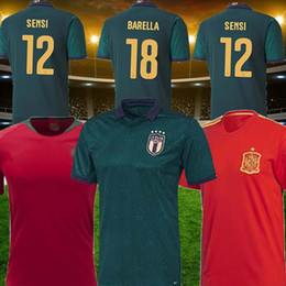 2019 calcio libero Italia Spagna Jersey della squadra nazionale di calcio 18 19 20 uomini Thailandia Maglia Coppa Europa CAMICIE casa calcio libera il trasporto calcio libero economici