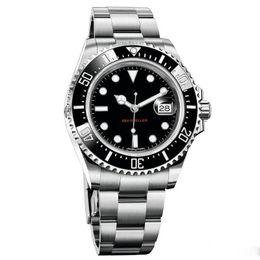 Reloj rojo espejo online-Relojes de lujo RED SEA-DWELLER 43mm Reloj para hombre 2813 Movimiento automático Barrido Mecánico Cerámica Bisel Broche de zafiro espejo relojes