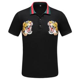 camisa de vestido da flor dos homens Desconto 2019 Nova marca Medusa impresso Homens Vestido flor camisa Slim Fit camisas de algodão para homens preto impressão casual Business tops roupas sociais