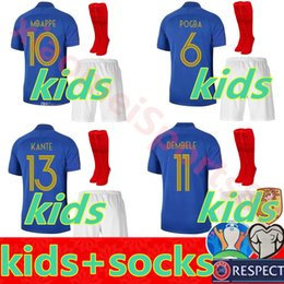 france soccer kit Coupons - kids kit France 1919 2019 Special Edition Centenary soccer jerseyS HENRY long sleeve mbappe GIROUD maillot de foot ZIDANE football shirt
