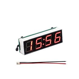 DC3.8-30V 3 en 1 Vehículo para automóvil Tubo digital LED Voltímetro Termómetro Hora Automóvil Relojes de mesa Dial desde fabricantes