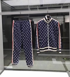 Traje de homem on-line-2020 novos Designers sportswear moda paletó correndo sportswear dos homens Medusa carta terno impressão roupas treino sportsJacke