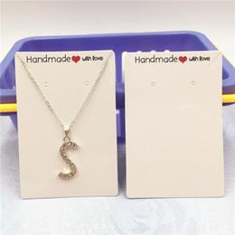 30 Unids / lote 9x6cm Pendientes multifuncionales Collar Tarjetas de exhibición de joyería Impresionan Corazón rojo hecho a mano Paquete de amor Cadenas de mano Cuelgan desde fabricantes