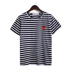 2019 liebesherzhemd Mens Brand T-Shirt Designer T-Shirts Baumwolle Kurzarm T-Shirt Love Heart Stickerei t-Shirt PLA Druck T-Shirt Harajuku Hip Hop Paar Top günstig liebesherzhemd