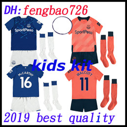 2019 kit de casa de everton kit infantil 2019 2020 Everton FC Camiseta de fútbol 19 20 RICHARLISON Camiseta de fútbol local SIGURDSSON DIGNE Camisetas adultas Camiseta Maillot the foot kit de casa de everton baratos