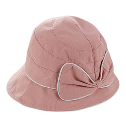557b8cac New Women Srpring Summer Bow Beach Hat Sun Hats Female Travel Cap Elegant  Wide Brim Sun Fisherman Hats Ladies Foldable Cloth Cap