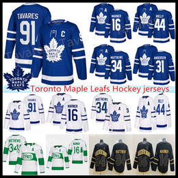 Toronto Maple Leafs Jersey 16 Mitch Marner 88 William Nylander 34 Auston Matthew 91 John Tavares barato e camisola do hóquei com desconto de